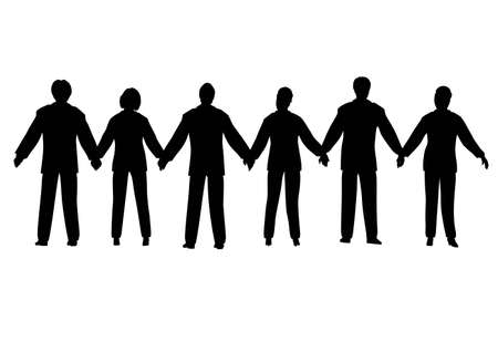 church group: business people chain