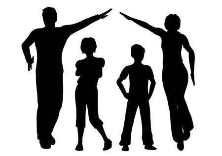 lifestyle family: vector casa de familia