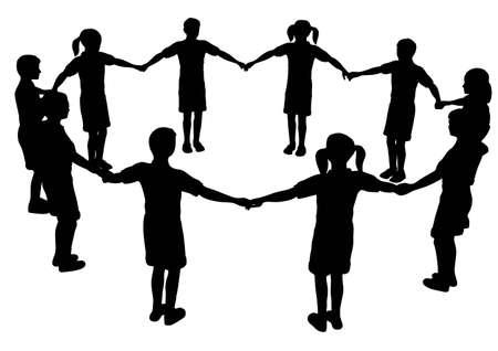 socialism: children circle Illustration