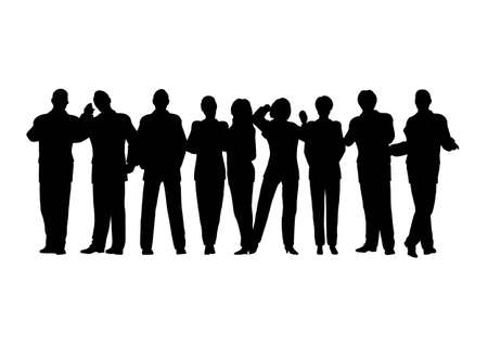 business crowd vector 2 all people movebale Vector