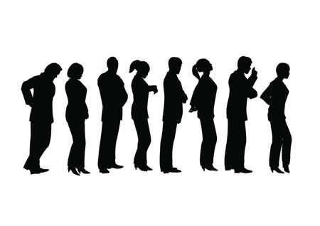Business Line-up Vecteurs