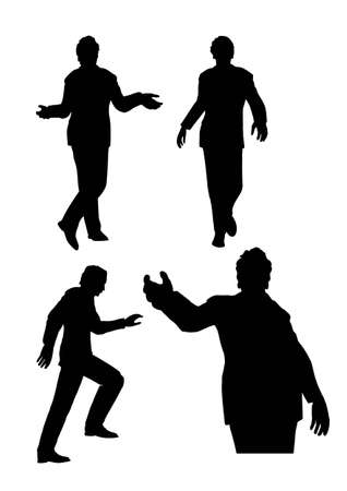 spokesperson: businessman silhouette vector