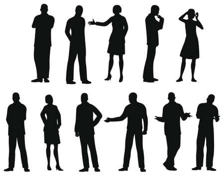 silueta masculina: silueta de empresarios