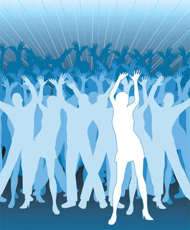 dance people silhouette Stock Vector - 6751031