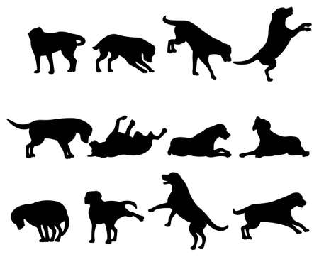 dog ears: dog silhouette Illustration