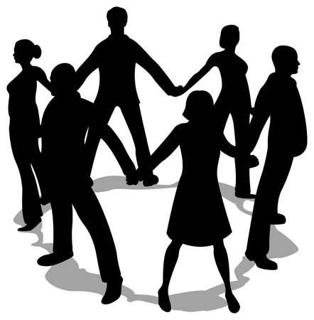 �resource: silueta de c�rculo de personas