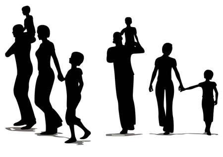 affectionate action: familia de cuatro