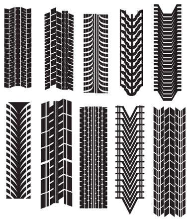 motricit�: Imprime des pneus  Illustration