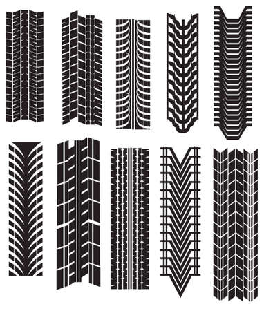 tire prints Stock Vector - 6751021