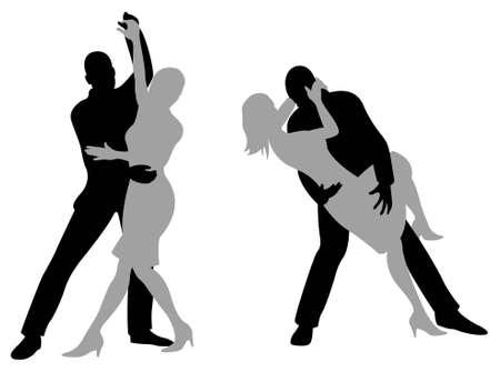 dancer male: tango silhouette