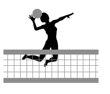 volleyball girl: volleyball woman silhouette Illustration