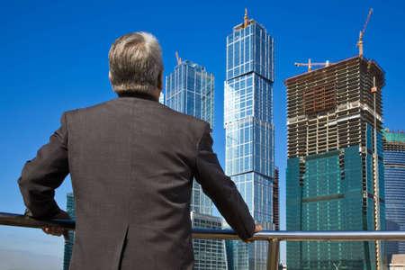 behind Senior man at the building Stock Photo - 7839080