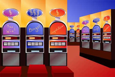 las vegas casino: empty money casino interior