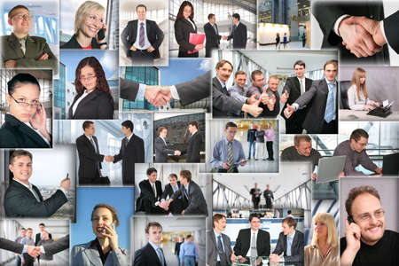 Many business pictures, collage photo