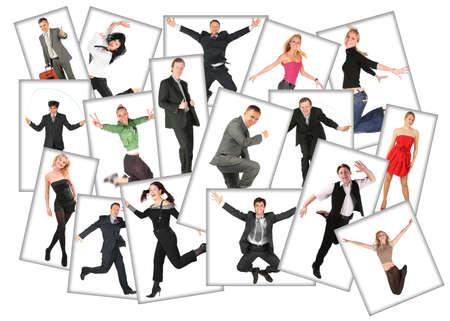 saltar: muchas fotos de gente, collage