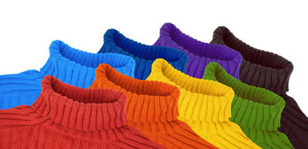 group of multi color rainbow sweaters collage Stock Photo - 9265032