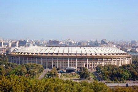 olympic sports: MOSCOW - SEPTEMBER 5: Grand Sports Arena of the Olympic Complex Luzhniki September 5, 2009 in Moscow, Russia. Arena Luzniki has the biggest in the world a pendant roof over spectator places.  Editorial