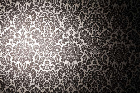 black and white photography: black and white pattern wallpaper. photography with a light stain. Vintage style Stock Photo