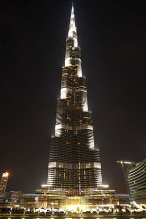 Burj Dubai skyscraper at night time general view, Dubai, United Arab Emirates Stock Photo - 11672959