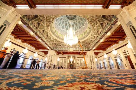 Oman: grand mosque in Oman general view interior