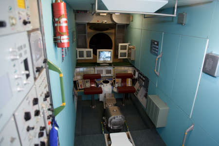 MOSCOW, RUSSIA - NOVEMBER 8: Museum of Soviet space exploration. Interior space station. November 8, 2009 in Moscow, Russia.