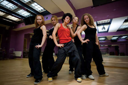 training dancing collective in show room before statement photo