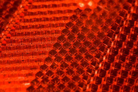 reflector: bright red abstract textural pattern, Fragment of cataphot