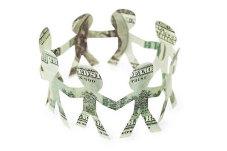 dollars little people cutouts dance in ring