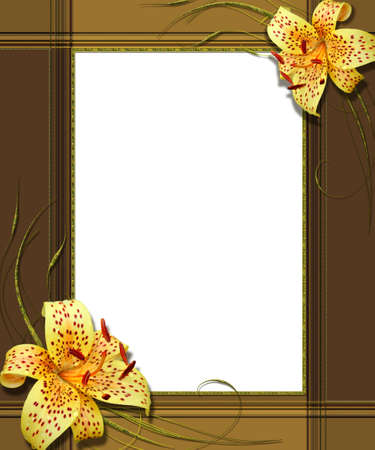 photo montage: portrait frame with lily collage
