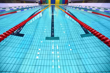 lane lines: Lane of swimming pool are limited zones Editorial