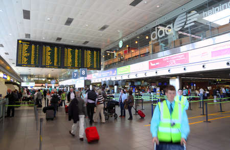 authority: DUBLIN – JUNE 13: Inside building of Airport on June 13, 2010 in Dublin, Ireland. Irish Aviation Authority figures show traffic of Dublin airport declined is down 10 per cent in 2010 compared to last year Editorial