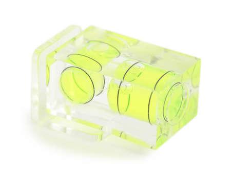 multilevel: Close-up vista di verde multilivello trasparente per macchina fotografica isolato su bianco
