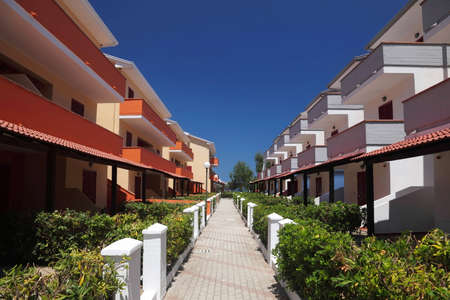 mandatoriccio: Little street between three-storeyed cottages which conduces to  sea