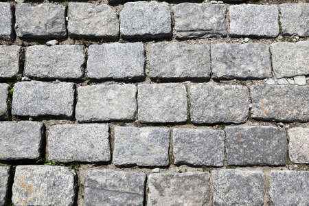 cobble: Stonework from  sett of grey color on Red Sguare