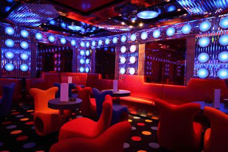 PERSIAN GULF - APRIL 14:  empty illuminated modern cafe in Costa Deliziosa - the newest Costa cruise ship, 14 April 2010 in Persian Gulf. Costa Cruises - bigest cruise company in Europe.  Editorial