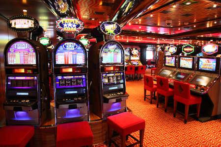 casino game: PERSIAN GULF - APRIL 14: Slot machines in play room, April 14, 2010 in Persian. Slot machines - most popular gambling.