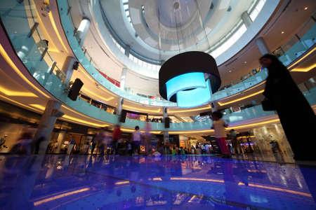 DUBAI - APRIL 18: Interior View of Dubai Mall, one of largest mall in the world on April 18, 2010 in Dubai, United Arab Emirates.