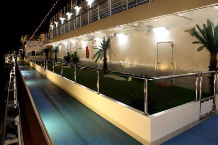 DUBAI - APRIL 17: golf court on cruise ship Costa Deliziosa - the newest Costa cruise ship, 17 April 2010 in Dubai, UAE. Costa Cruises - the largest European cruise operator.