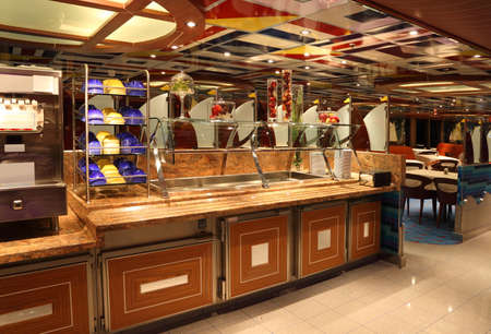 DUBAI - APRIL 17: restaurant on cruise ship Costa Deliziosa - the newest Costa cruise ship, 17 April 2010 in Dubai, UAE. Costa Cruises - the largest European cruise operator.