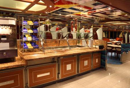DUBAI - APRIL 17: restaurant on cruise ship Costa Deliziosa - the newest Costa cruise ship, 17 April 2010 in Dubai, UAE. Costa Cruises - the largest European cruise operator. Editorial
