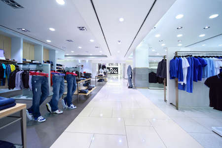 Clothes for men are for sale in shopping center Stock Photo - 12512758