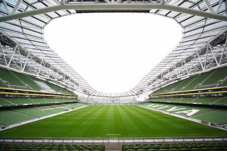 stadium soccer: DUBLIN - JUNE 10: Empty stadium Aviva June 10, 2010 in Dublin. Stadium Aviva after repair Editorial