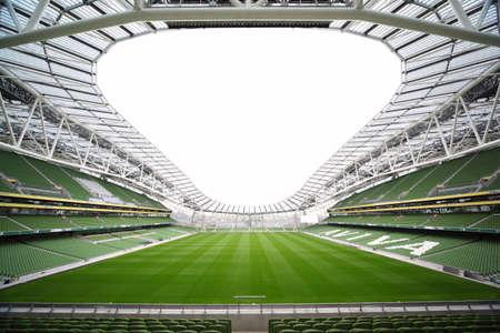 DUBLIN - JUNE 10: Empty stadium Aviva June 10, 2010 in Dublin. Stadium Aviva after repair Editorial