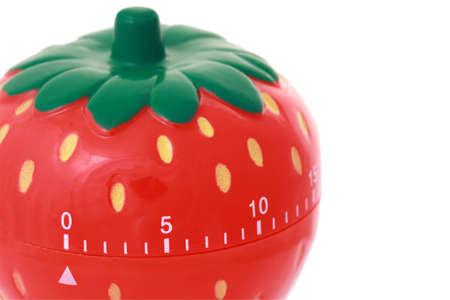 exactness: Original kitchen clock in form strawberry