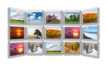 season nature on many grunge screens collage, all photos mine photo