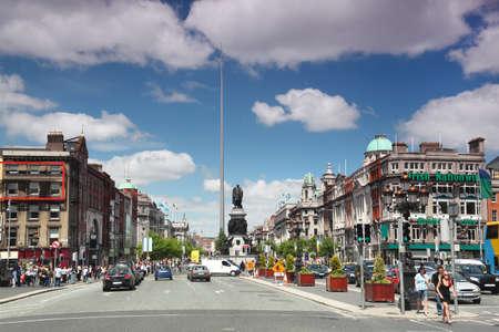 DUBLIN - JUNE 12: Spire of Dublin on June 12, 2010 in Dublin. Spire of Dublin is large, stainless steel, pin-like monument 121,2 metres
