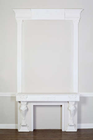parget: beautiful ornate white decorative plaster moldings in studio