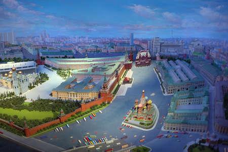 top 7: MOSC� - 07 de enero: Vista superior del diorama Mosc� - capital de la URSS el 7 de enero de 2011 en Mosc�, Rusia. Diorama creado equipo de artistas dirigidos por Yefim Deshalyt encargado por la URSS Ministerio de Relaciones Exteriores