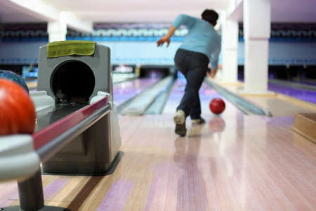 governed: Man exactly throws up ball on skittles in bowling club