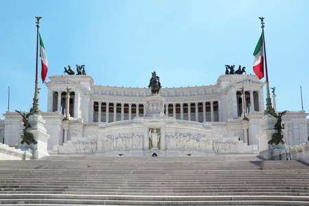 emmanuel: Equestrian monument to Victor Emmanuel II near Vittoriano in Rome, Italy Editorial